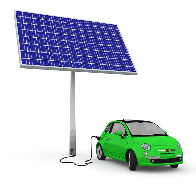 Solar panel plugged into car